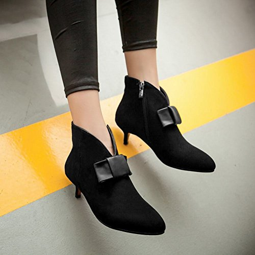 Latasa Booties Kitten Heel Dress Women's Black Bow qwqp61