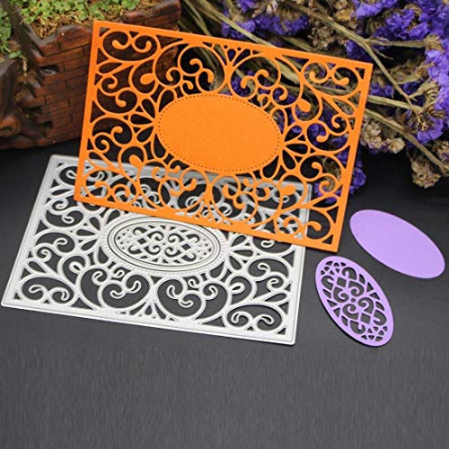 Fabal Frame Metal Cutting Dies DIY Album Scrapbook Card Bookmark Decor Tools Cutting Dies for Scrapbooking (C)
