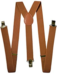 Suspenders For Men - Adjustable Solid Straight Clip - Mens Outfit