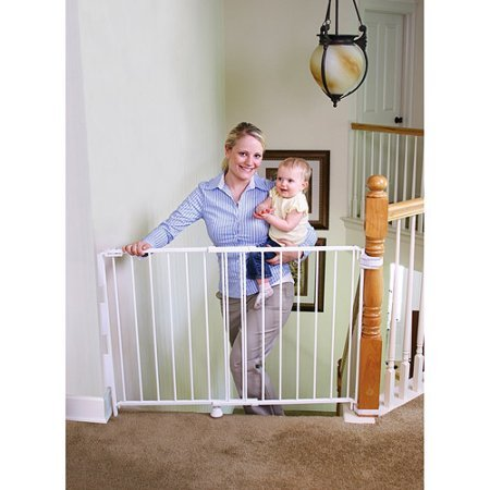 Regalo Expandable Top of Stairs Baby Gate, Includes Mounting
