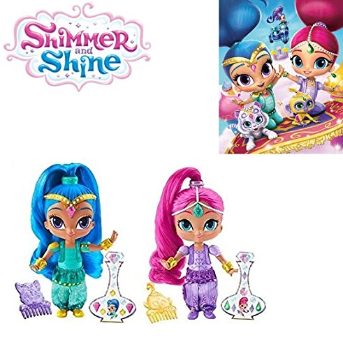 Shimmer Fan (Fisher-Price Shimmer and Shine - 6 inch SHIMMER and SHINE Dolls Set of 2 - Great Gift for any Nickelodeon)