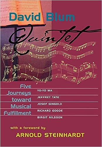 Quintet five journeys toward musical fulfillment david blum quintet five journeys toward musical fulfillment david blum 9780801437311 amazon books fandeluxe Images