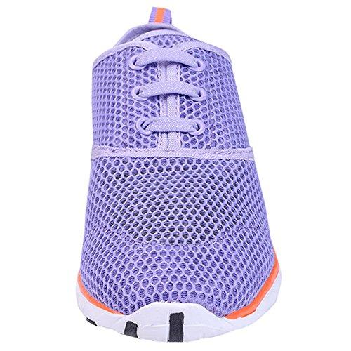 Aqua Purple Quick Slip Shoes Drying LANBAOSI Water Womens Mesh On Lightweight Socks Uxw0fzP