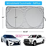 A1 Shades Windshield Sunshade Suv Car Easy-Select Size Chart with Your Vehicle Windshield Universal Luxurious-210T Keep Vehicle Accessories Cool UV Sun and Heat Reflector