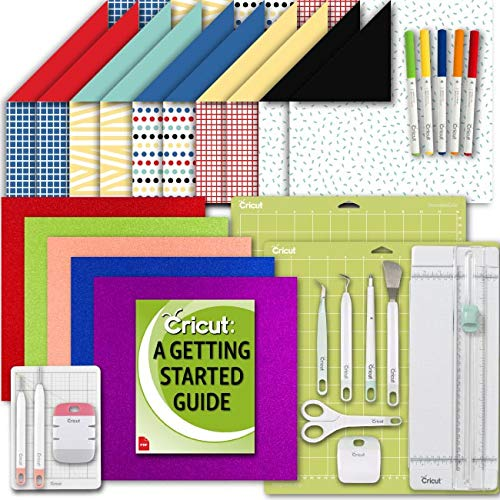 Trimmer Cut Paper Multi (Cricut Machine Party and Shimmer Paper Pack, Writing Pen Set, Essential Tool Kit, GripMat and eGuide)