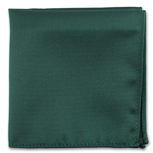 Emerald Green Pocket Squares For Men - Mens Woven Pocket Square Tuxedo Wedding Solid Color Formal Handkerchiefs