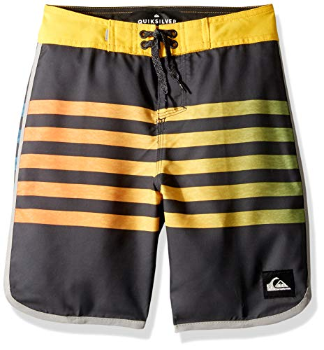 - Quiksilver Big Boys' Everyday Grass Roots Youth 17 BOARSHORT Swim Trunk, Ebony, 23/10S