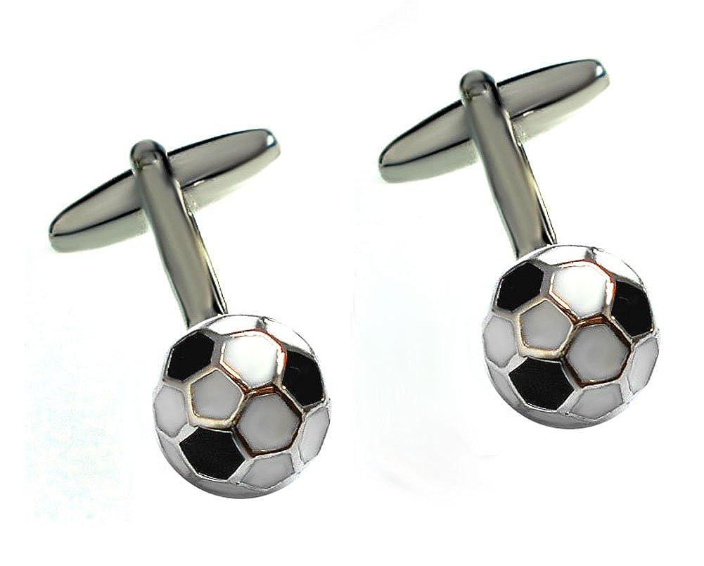 Unbekannt Balones de Fútbol Gemelos de Todo Negro Blanco gelackt ...