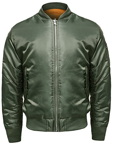 Style by William Original Inspired Heavyweight Bomber Jacket Olive 3XL ()