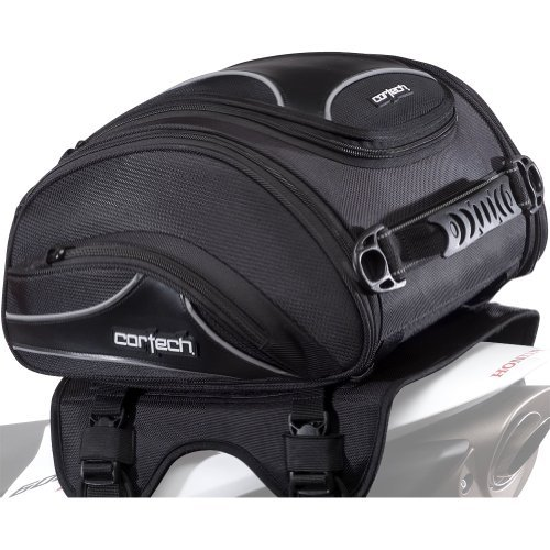 Cortech Super 2.0 24-Liter Motorcycle Tail Bag - Black / 13.4