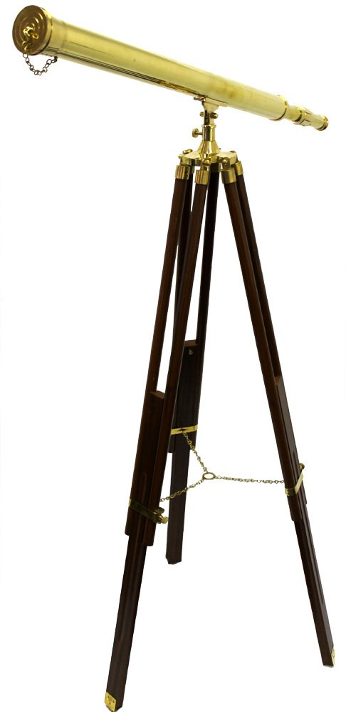 Harbor Master Brass Telescope with Tripod Stand