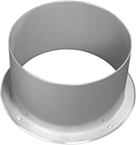 Duct Connector Flange, Steel Straight Pipe Flange for Heating Cooling Ventilation System Coated with Polymeric Enamel (4'' Inch)