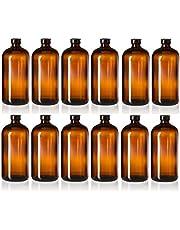 Set of 12-32oz Boston Glass Bottles - Brewing Bottles for Kombucha, Kefir, Beer - Airtight Poly-Cone Sealing for Leak Proof Bottling