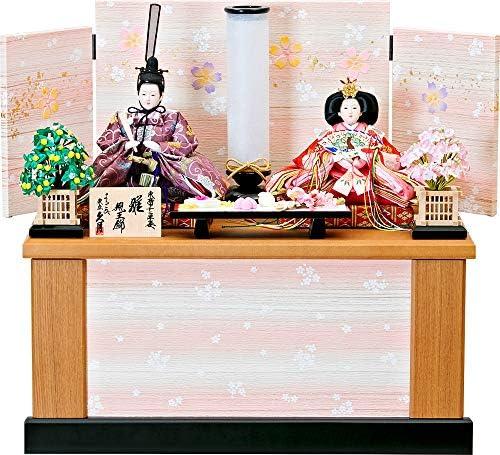 雛人形 ひな人形 久月 収納飾り 収納二人飾り 親王飾り 小三五親王 間口50×奥行30×高さ49cm