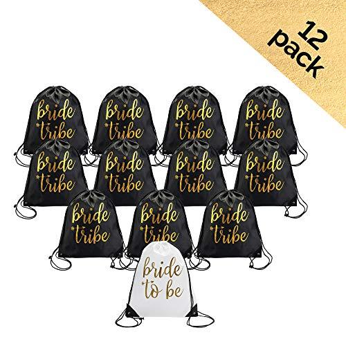 - Bride & Bride Tribe Drawstring Bags (12)
