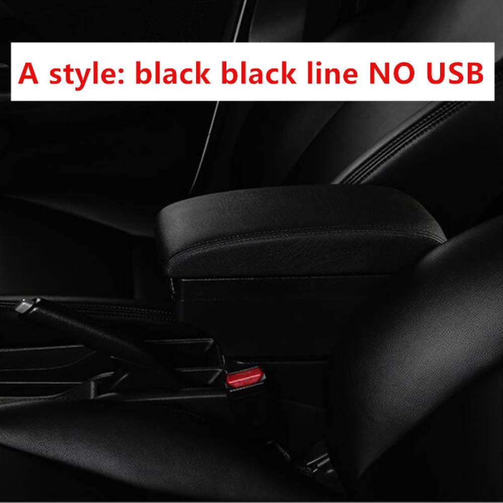 Epringey pour accoudoir Toyota Rush accoudoir USB Charge Accrue Double Couche Centrale Magasin Contenu Porte-gobelet cendrier Accessoires