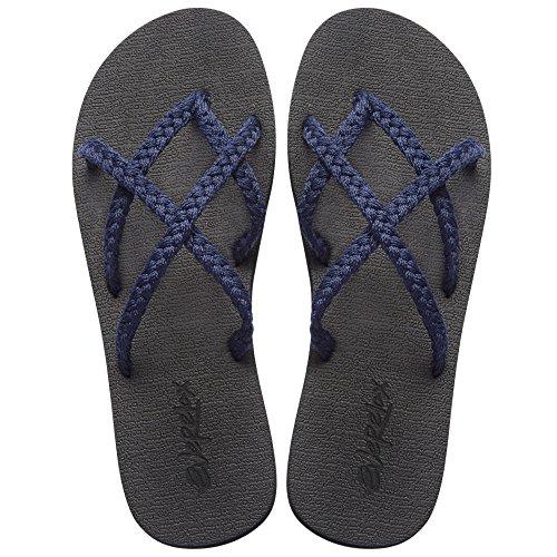 Everelax Women's Flip Flops Sandal 9 B(M) US, Space Blue by Everelax