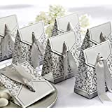 Meiyiu Creative Golden Silver Ribbon Candy Paper Box Silver Wedding Favours Party Gift Special Festival Gift Boxes