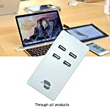 M.owstoni 25W/5A 4-Port Portable USB Wall Charger