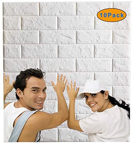 Arthome White Brick 3D Wall Pane...