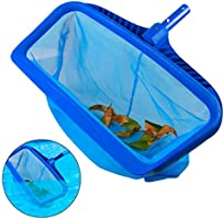 WOLLGORD Pool Skimmer Net, Heavy Duty Leaf Rake Cleaning Tool, Fine Mesh Deep Bag Catcher with Strong Plastic Frame,Fits...