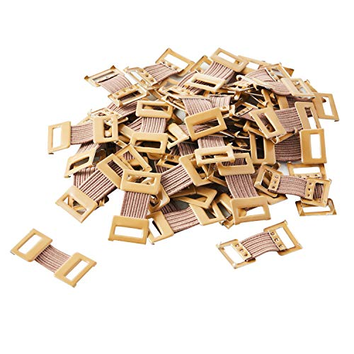 ORIENTOOLS Elastic Bandage Clips Stretch Metal Clasps for Various Types Bandages, Replaceable Wrap Fastener Clips, Latex-Free, Brown (50 Clips)