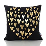Monkeysell Original New products Bronzing flannelette Home Pillowcases Throw Pillow Cover Love Letter pattern design Rock punk neoclassical style 18 inches (S155B)