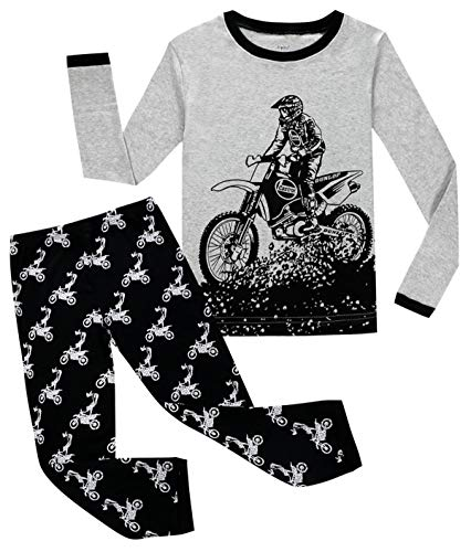 Joyond Little Boys Pajamas Set Train Kids 100% Cotton Sleepwears Long Sleeve Clothes Toddler PJS Size 18M-10T
