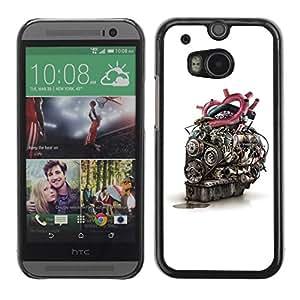 Caucho caso de Shell duro de la cubierta de accesorios de protección BY RAYDREAMMM - HTC One M8 - Engine Heart