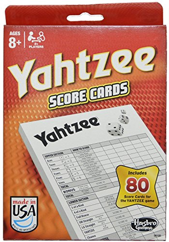 Hasbro Yahtzee 80 Score Cards  2 Pack