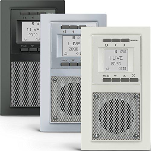 SIEMENS Steckdosen RADIO in Carbonmetallic DELTA miro Unterputz - Radio inkl. Montagewerkzeug zur problemlosen Montage