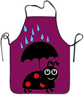 Icndpshorts Ladybug Rainning Aprons Cute Adult Aprons Aprons for Women with Pockets Red Aprons for Women with Pockets Plus Size
