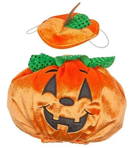Build a Bear Halloween Pumpkin Costume Teddy Size Outfit (Halloween Pumpkin Teddy Bear)