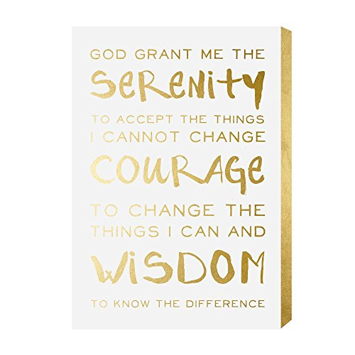 Wynwood Studio Serenity Prayer' Plaque Art Wall, 13x19, Gold Prayer Canvas