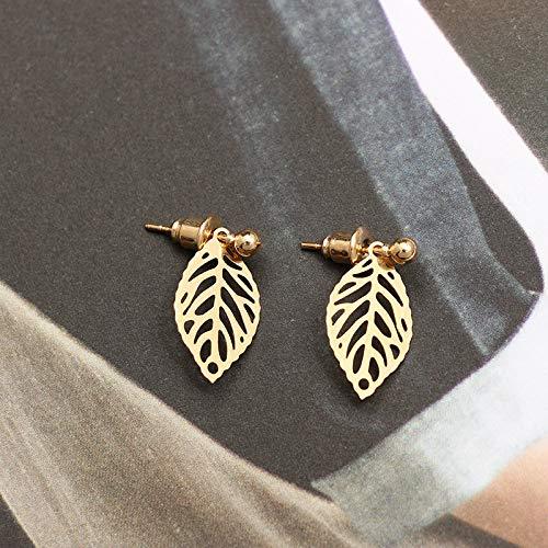 Delicate Leaf Earrings Silver Gold Leaf Earrings Nature Jewellery