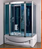 Steam Shower Room with Whirlpool Tub.BLUETOOTH. 9001 Left drain