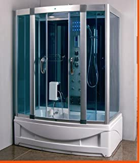 Ariel WS 701 Steam Shower with Whirlpool Bathtub Bathtub And