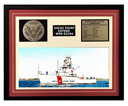 USCGC Point Estero WPB-82344 Framed Coast Guard Ship Display - Point Estero