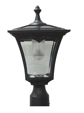Amazon.com : Lily's Home Solar Lamp Post Light - Coach Light with ...:Lily's Home Solar Lamp Post Light - Coach Light with a Deck Mount,Lighting