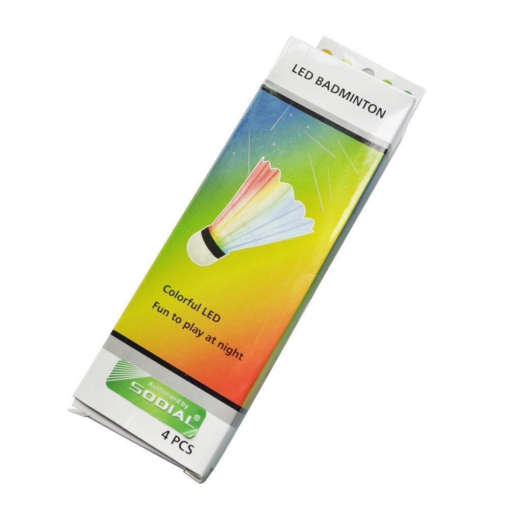SODIAL(R) 4 pz Volano LED sport notturno colorato