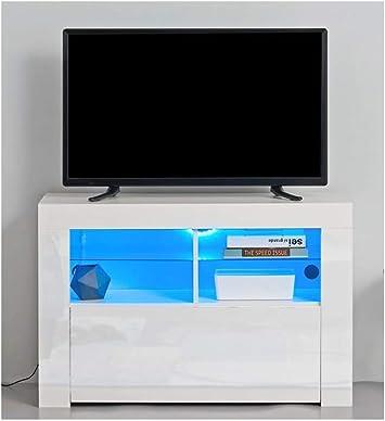 Moderno 2019 / Salón Muebles TV Armario Alto Brillo LED/Color Blanco o Negro: Amazon.es: Electrónica