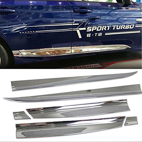 Rqing For Honda 10th Accord 2018 2019 Chrome Body Side Molding Door Guard Cover - Accord Door Molding Honda