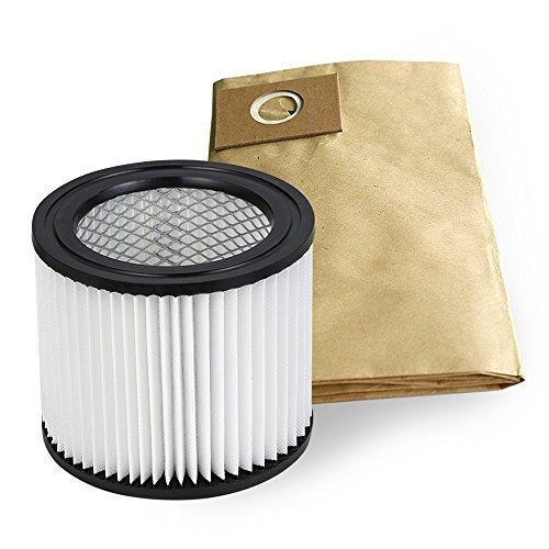 Dibea DU100 Wet Dry Vacuum Cleaner Replacement Cartridge Filter, Dust Collection Bags Accessory (Cartridge Dust Collectors)