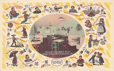 E9331 PA, Lancaster Hotel Brunswick Restaurant Postcard