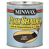 Minwax 214604444 Polyshades - Stain & Polyurethane in 1 Step, 1/2 pint, Tudor, Gloss