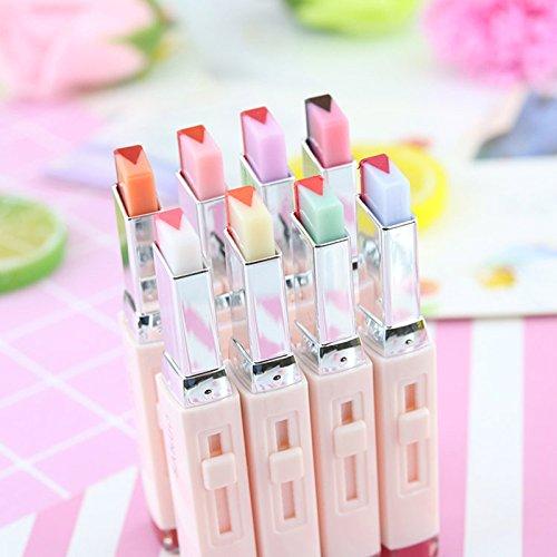 (elegantstunning Professional Gradient Color Matt Lipstick Fruit Smell Two-tone Tint Lip Bar Perfect Present Gift)