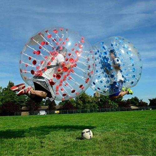 iMeshbean 2PCS 1.5 M PVC Mix Color Inflatable Bumper Ball Body Zorbing Ball Human Zorb Bubble Soccer / Football for Adults and Kids Model# 302 USA by i-mesh-bean