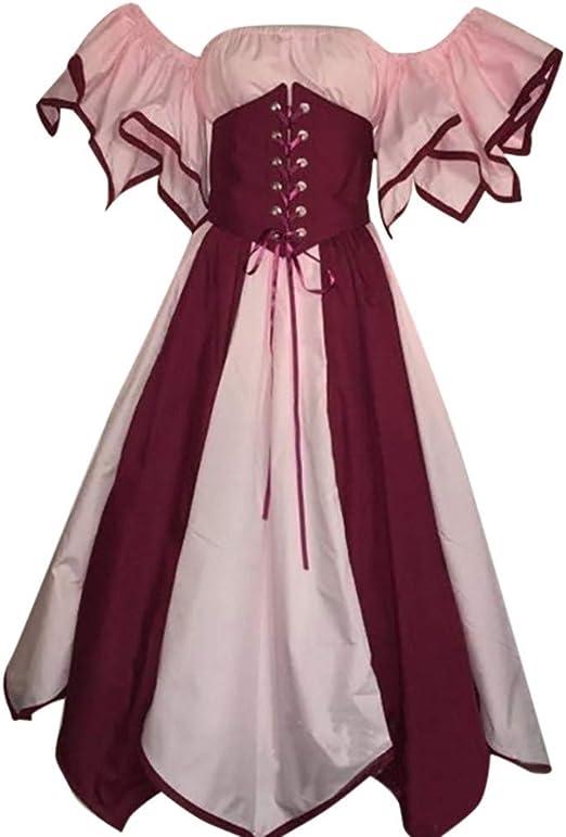 Sugely - Disfraz Medieval Retro renacentista para Mujer, Estilo ...