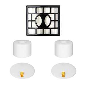 2 Foam & Felt Filters and 1 HEPA Filter Kit for Shark Rotator Powered Lift-Away Speed&DuoClean Vacuum Cleaner NV680, NV681, NV682, NV683, NV800, NV801, NV803, UV810 Replaces Part # XHF680 & XFF680
