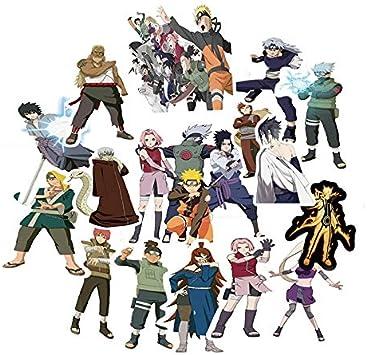 TUDUDU 51Pcs Impermeable Japón Anime Dibujos Animados Naruto ...